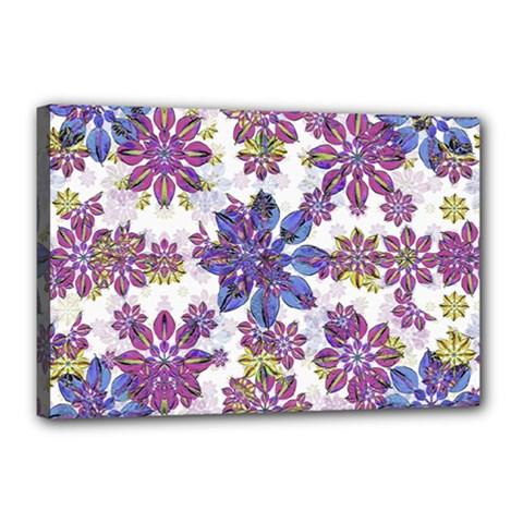 Stylized Floral Ornate Pattern Canvas 18  x 12