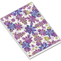 Stylized Floral Ornate Pattern Large Memo Pads