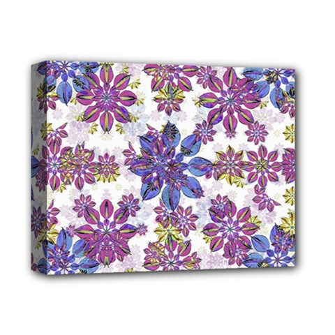 Stylized Floral Ornate Pattern Deluxe Canvas 14  X 11