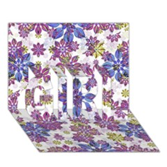 Stylized Floral Ornate Pattern Girl 3d Greeting Card (7x5)