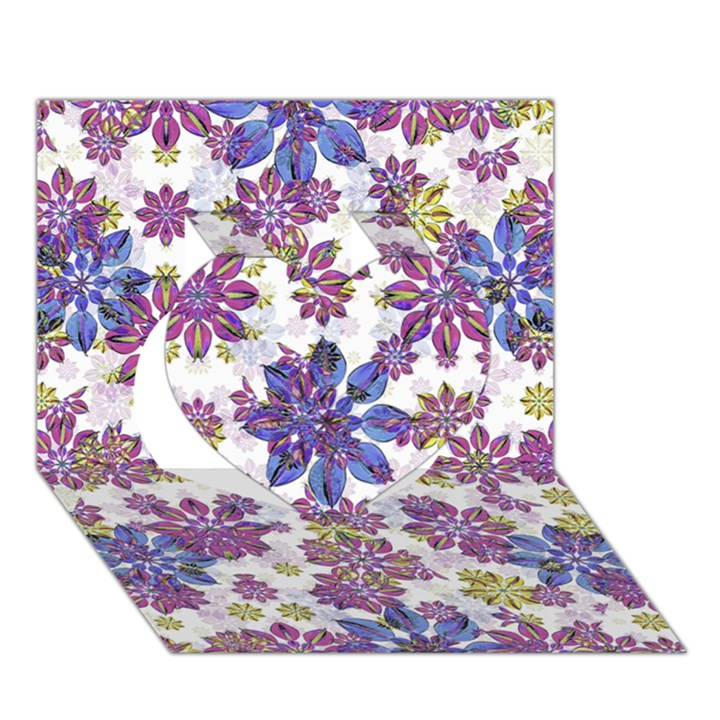Stylized Floral Ornate Pattern Heart 3D Greeting Card (7x5)