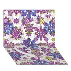 Stylized Floral Ornate Pattern Heart Bottom 3D Greeting Card (7x5)