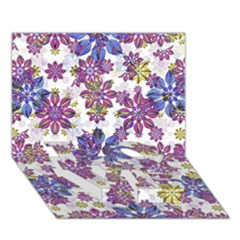 Stylized Floral Ornate Pattern LOVE Bottom 3D Greeting Card (7x5)