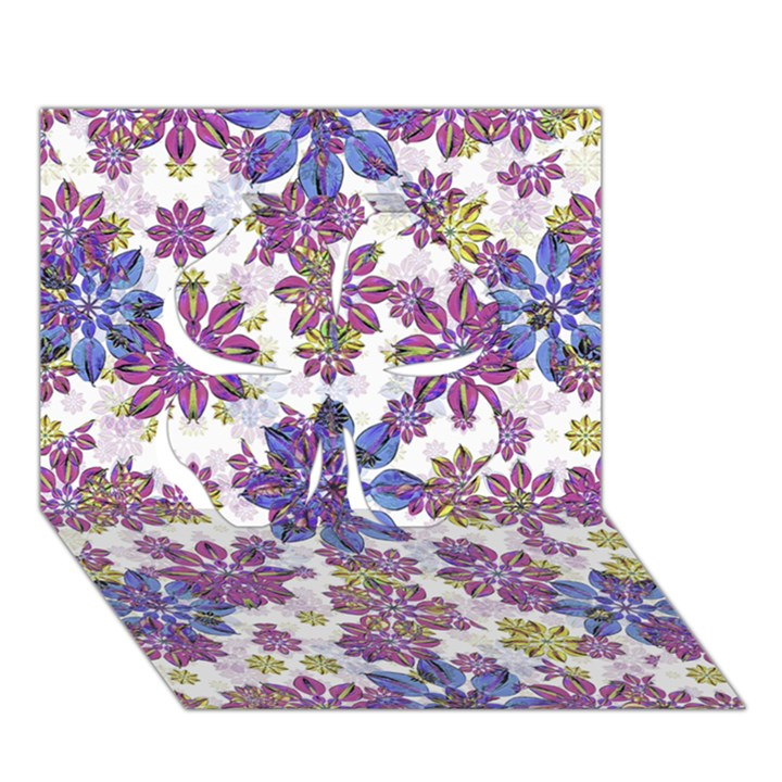 Stylized Floral Ornate Pattern Clover 3D Greeting Card (7x5)