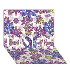 Stylized Floral Ornate Pattern Hope 3d Greeting Card (7x5)