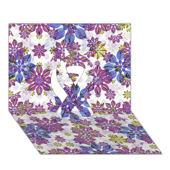 Stylized Floral Ornate Pattern Ribbon 3D Greeting Card (7x5)