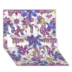 Stylized Floral Ornate Pattern You Rock 3D Greeting Card (7x5)