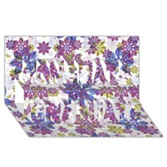 Stylized Floral Ornate Pattern Congrats Graduate 3D Greeting Card (8x4)