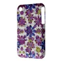 Stylized Floral Ornate Pattern Apple iPhone 3G/3GS Hardshell Case (PC+Silicone) View3