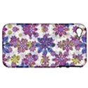 Stylized Floral Ornate Pattern Apple iPhone 4/4S Hardshell Case (PC+Silicone) View1