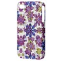 Stylized Floral Ornate Pattern Apple iPhone 4/4S Hardshell Case (PC+Silicone) View3