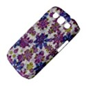 Stylized Floral Ornate Pattern Samsung Galaxy S III Classic Hardshell Case (PC+Silicone) View4