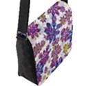 Stylized Floral Ornate Pattern Flap Messenger Bag (L)  View2
