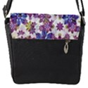 Stylized Floral Ornate Pattern Flap Messenger Bag (S) View1