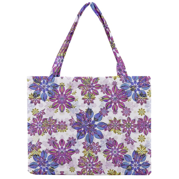 Stylized Floral Ornate Pattern Mini Tote Bag