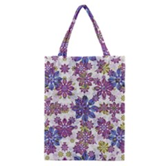 Stylized Floral Ornate Pattern Classic Tote Bag