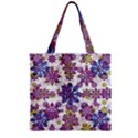 Stylized Floral Ornate Pattern Zipper Grocery Tote Bag View2