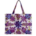 Stylized Floral Ornate Pattern Zipper Mini Tote Bag View1