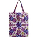 Stylized Floral Ornate Pattern Zipper Classic Tote Bag View1