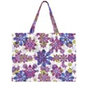 Stylized Floral Ornate Pattern Large Tote Bag View1