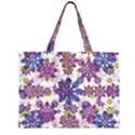 Stylized Floral Ornate Pattern Large Tote Bag View2