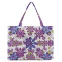 Stylized Floral Ornate Pattern Medium Zipper Tote Bag View1