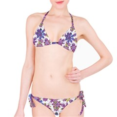 Stylized Floral Ornate Bikini Set