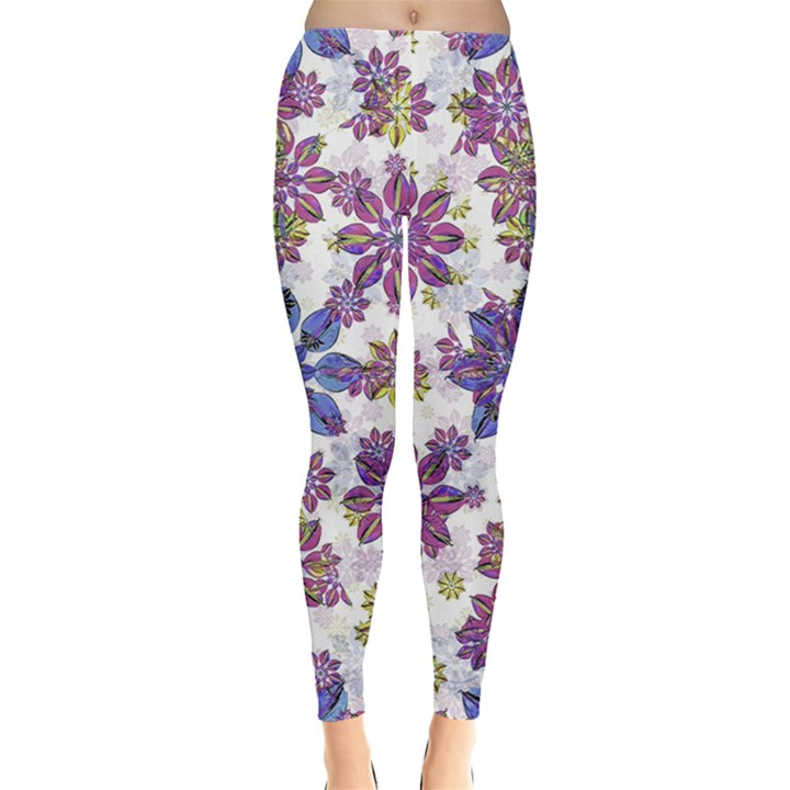 Stylized Floral Ornate Leggings
