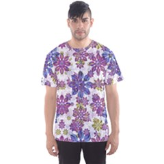 Stylized Floral Ornate Men s Sport Mesh Tee