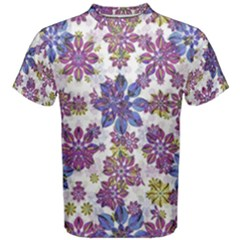 Stylized Floral Ornate Men s Cotton Tee