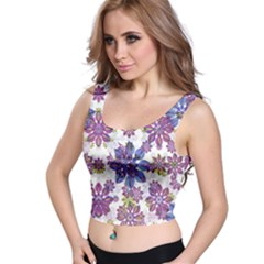 Stylized Floral Ornate Crop Top