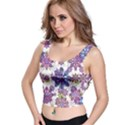 Stylized Floral Ornate Crop Top View1