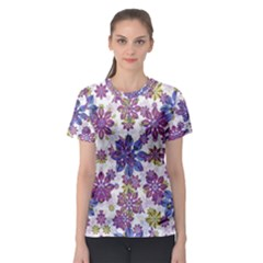 Stylized Floral Ornate Women s Sport Mesh Tee
