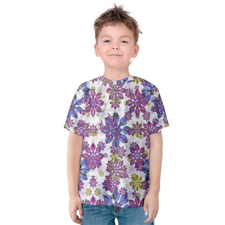 Stylized Floral Ornate Kids  Cotton Tee