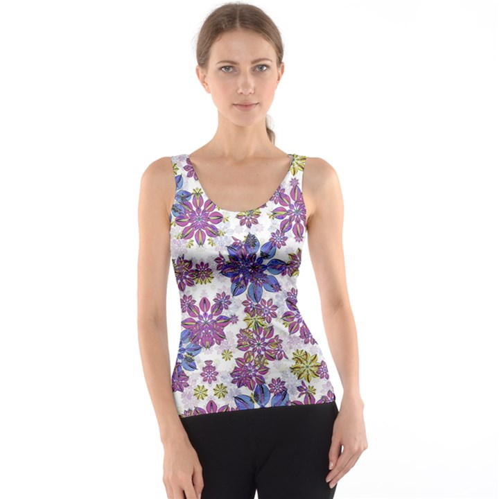 Stylized Floral Ornate Tank Top