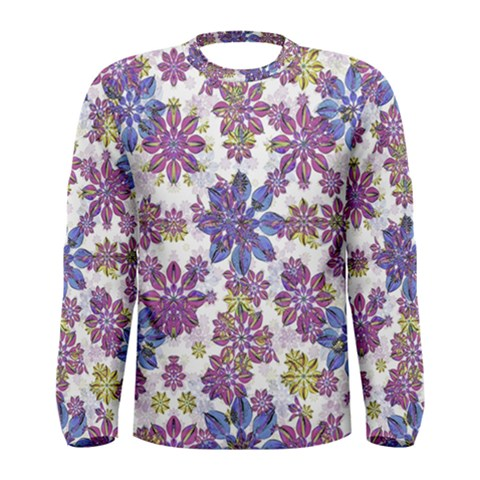Stylized Floral Ornate Men s Long Sleeve Tee