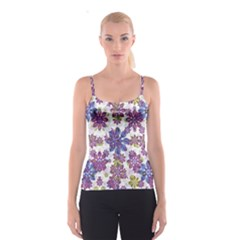 Stylized Floral Ornate Spaghetti Strap Top