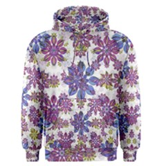 Stylized Floral Ornate Men s Pullover Hoodie