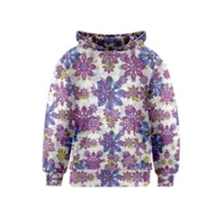 Stylized Floral Ornate Kids  Pullover Hoodie