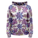 Stylized Floral Ornate Women s Pullover Hoodie View1