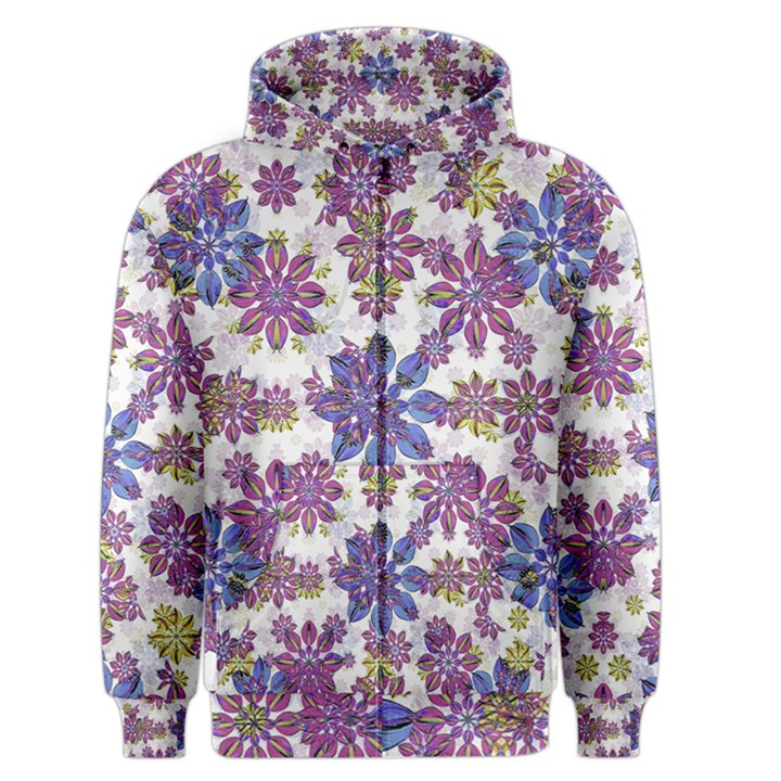 Stylized Floral Ornate Men s Zipper Hoodie
