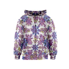 Stylized Floral Ornate Kids  Zipper Hoodie