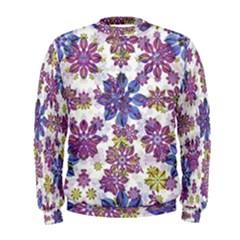 Stylized Floral Ornate Men s Sweatshirt
