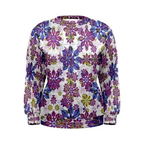 Stylized Floral Ornate Women s Sweatshirt