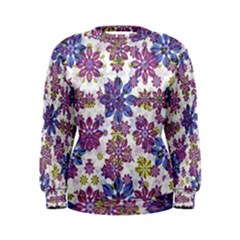 Stylized Floral Ornate Women s Sweatshirt