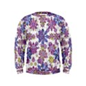 Stylized Floral Ornate Kids  Sweatshirt View1