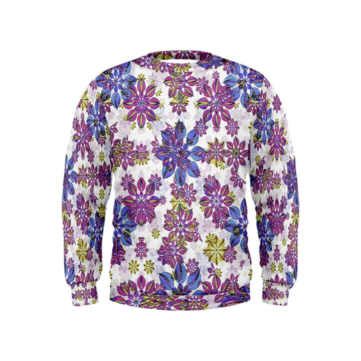 Stylized Floral Ornate Kids  Sweatshirt