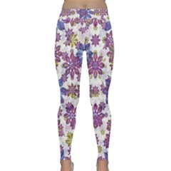 Stylized Floral Ornate Yoga Leggings