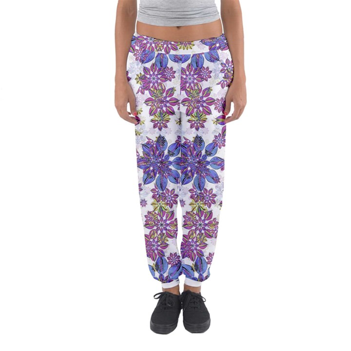 Stylized Floral Ornate Women s Jogger Sweatpants