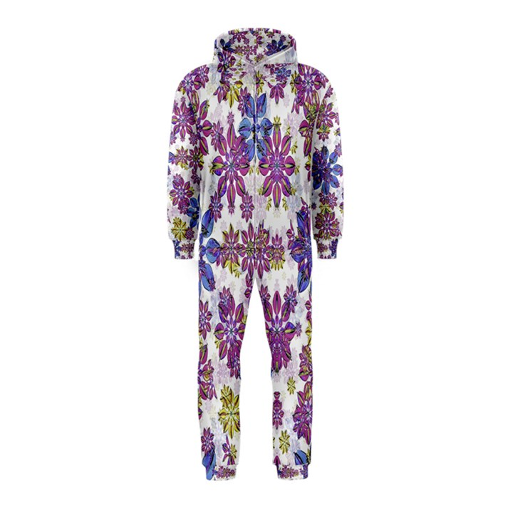 Stylized Floral Ornate Hooded Jumpsuit (Kids)